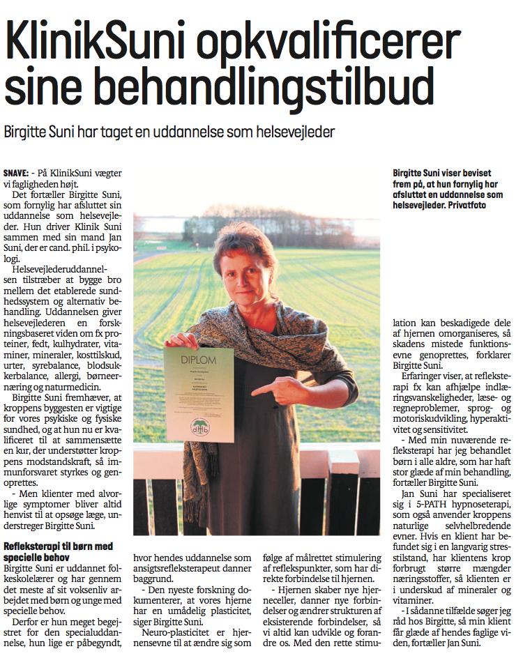 Birgitte Suni har taget en uddannelse som helsevejleder